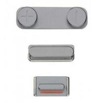 iPhone 5S : Lot 3 boutons gris foncé volume power mute - pièce détachée