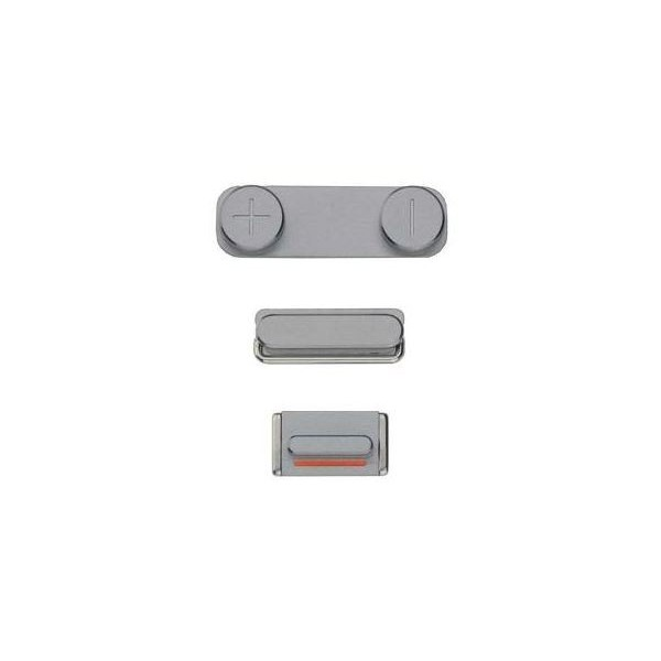 Lot 3 boutons gris foncé volume power mute iPhone 5S