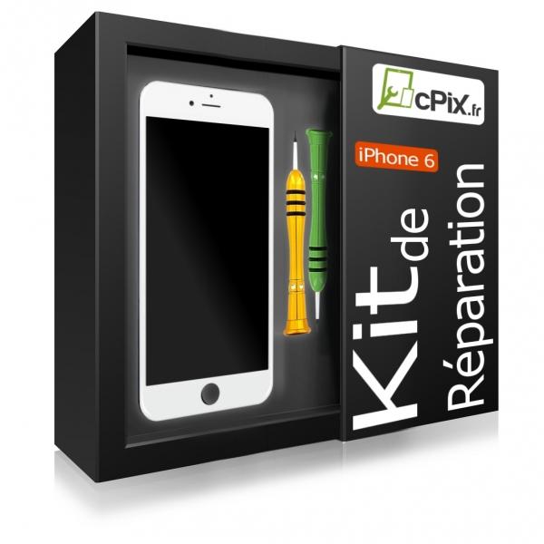 Kit Reparation iPhone 6 noir : Ecran Premium + outils + guide