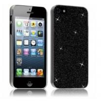 iPhone 5S : etui gel paillettes noir