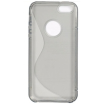 iPhone 5S : protection silicone gris transparent