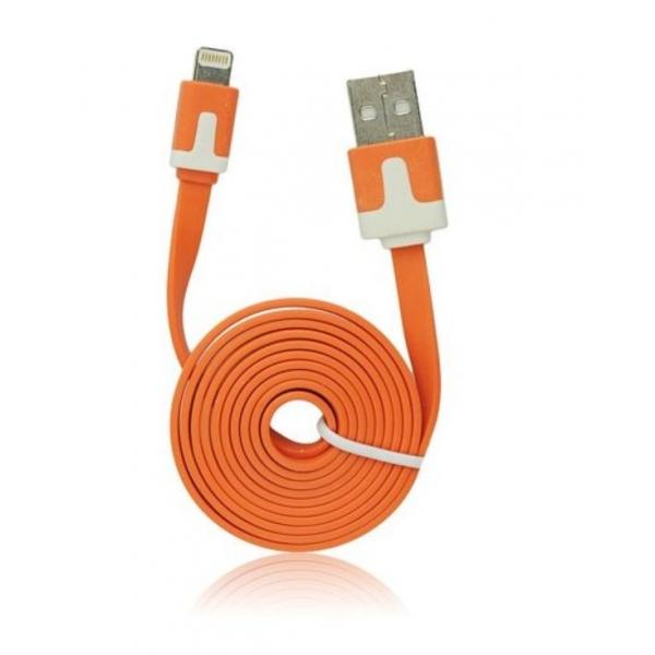 Câble iPhone lightning plat Orange - accessoire