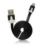 Câble plat lightning Noir iOS 9 - accessoire