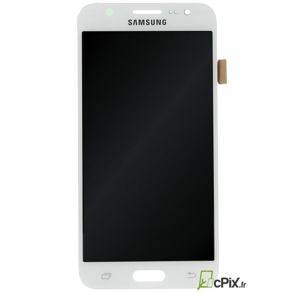 Ecran Galaxy J5 SM-J500 avec LCD et vitre tactile blanche (vue de face)