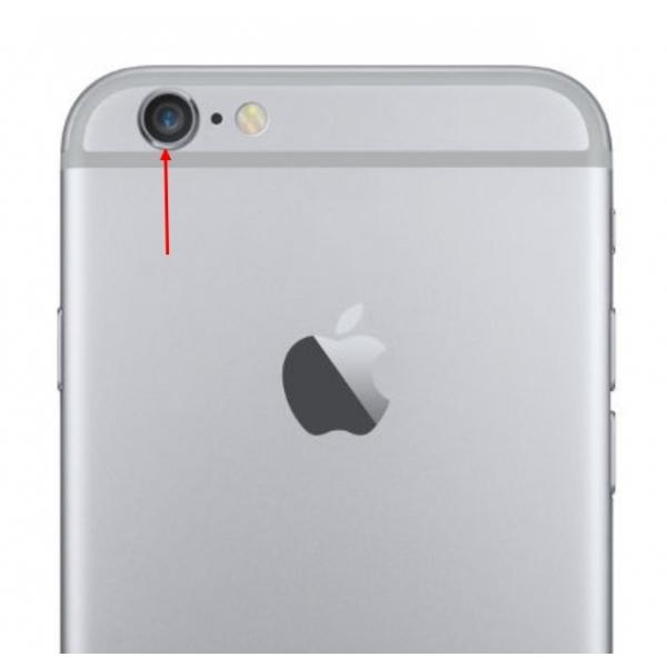 iphone 6 lentille cam ra arri re avec bague gris sid ral. Black Bedroom Furniture Sets. Home Design Ideas