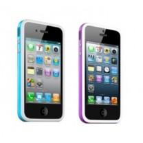 iPhone 5, 5S et SE : Bumper blanc coloré - accessoire