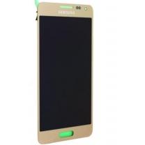 Samsung Galaxy Alpha SM-G850F : Complet Vitre tactile Or + Ecran LCD