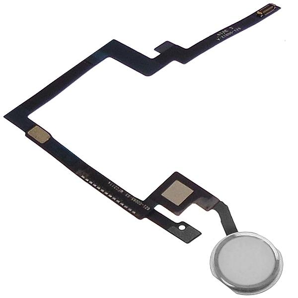 Bouton Home iPad mini 3 Blanc Argent et nappe de connexion