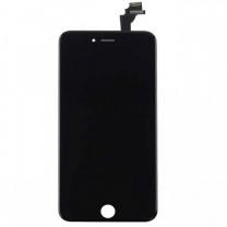 Ecran semi complet iPhone 6 noir : vitre, rallonge bouton home et plaque de protection LCD