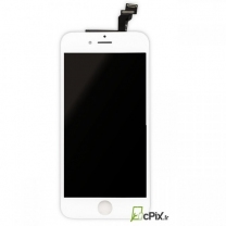 iPhone 6 : Semi Complet Ecran Blanc LCD et vitre tactile + Rallonge Home + Plaque protection LCD