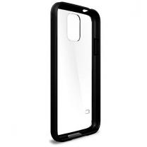 Samsung Galaxy S5 SM-G900F : coque de protection Noire et transparente