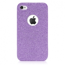iPhone 6 : coque souple transparente & Fuchsia à paillettes