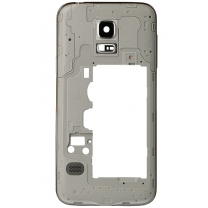 Galaxy S5 Mini SM-G800F : Châssis arrière contour argent pièce détachée