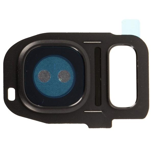 Galaxy S7 et S7 Edge : Support métal pour lentille appareil photo arrière noir