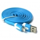 Câble Usb lightning plat Bleu pour iPhone et iPad