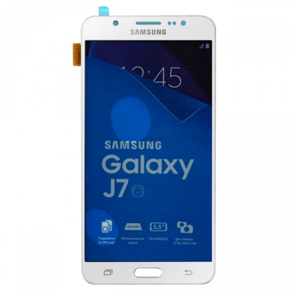 Vitre cran blanc galaxy j7 sm j710 2016 pi ce de for Photo ecran samsung j7