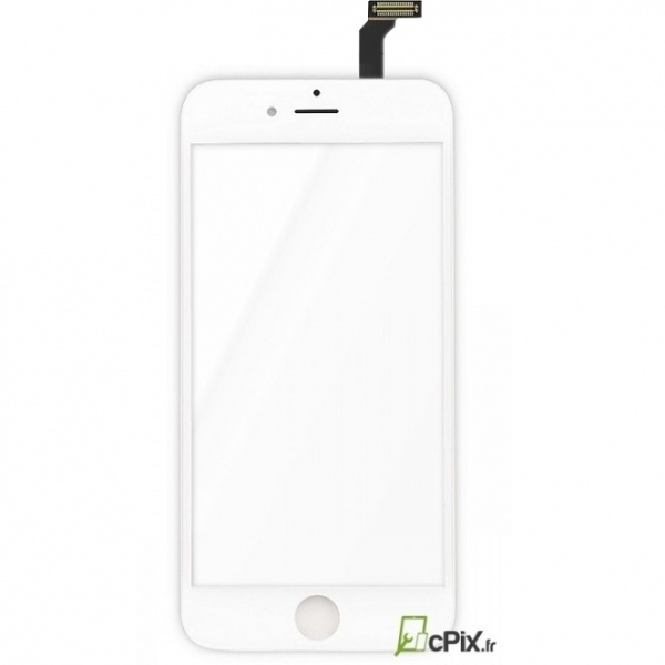 iPhone 6 : Vitre tactile Blanche seule de remplacement