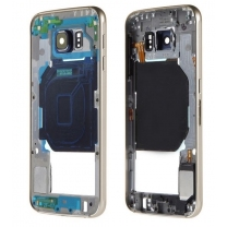 Samsung Galaxy S6 SM-G920F : Châssis central Or Officiel