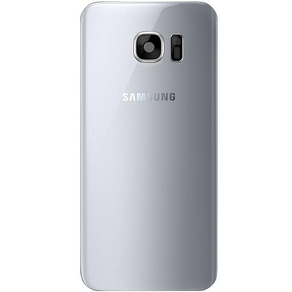 GALAXY S7 EDGE SM-G935F : Vitre arrière argent (Silver) cache batterie Officiel Samsung