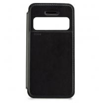 iPhone 4-4S : Etui Flip cover noir à fenêtre