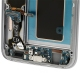 Galaxy S7 SM-G930F : Partie basse de la face arrière avec stickers