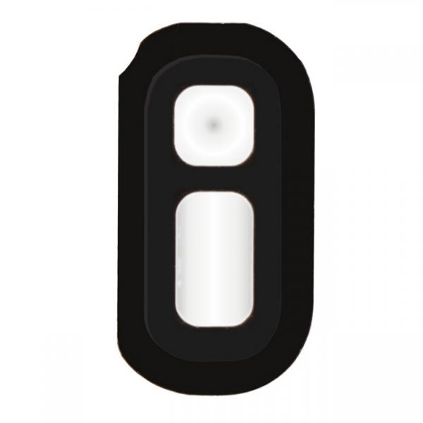 Galaxy S7 et S7 Edge : Support lentille en métal noir pour flash et capteur de luminosité