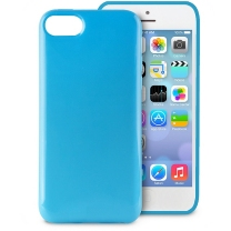 iPhone 5C : Coque de protection bleue