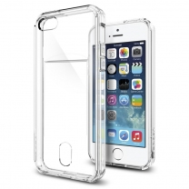 iPhone 5 / 5S / SE : Coque transparente souple porte carte
