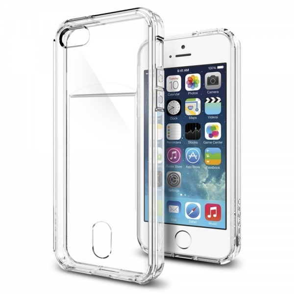 coque transparente souple range carte iphone 5 5s se. Black Bedroom Furniture Sets. Home Design Ideas