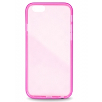 iPhone 5 / 5S / SE : coque semi-rigide transparente / rose