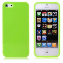 iPhone 5C : Coque Verte en silicone TPU gel