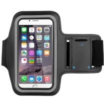 iPhone 4 / 4S : Brassard de sport en néoprène Noir et Bleu