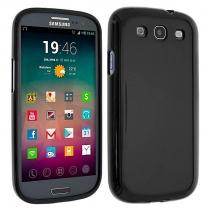 Galaxy S3 et S3 4G : Coque Gel Noir Souple