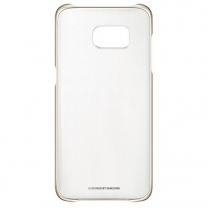 Galaxy S7 EDGE SM-G935F : Coque Originale Samsung rigide transparente / Or