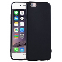 iPhone 7, iPhone 8 : Coque souple silicone TPU noire