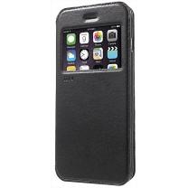 iPhone 7 Plus : Etui noir flip cover à fenêtre