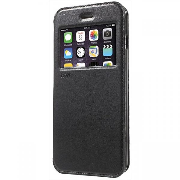 iPhone 7 : Etui noir flip cover à fenêtre