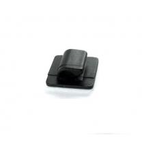 Support Passe-câble Auto-adhésif Noir - Accessoires