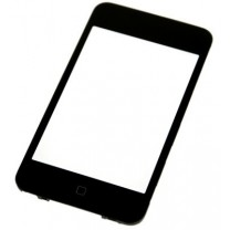 Vitre tactile + bouton home monté pour iPod touch 3 : pièce détachée