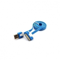 Câble USB iPhone Bleu 30 broches - accessoire