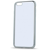 iPhone 7 : Coque de protection silicone TPU transparent argent