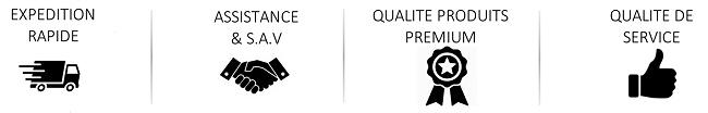 Engagement Qualité, Guarantie, SAV, Expédition Rapide, cPix