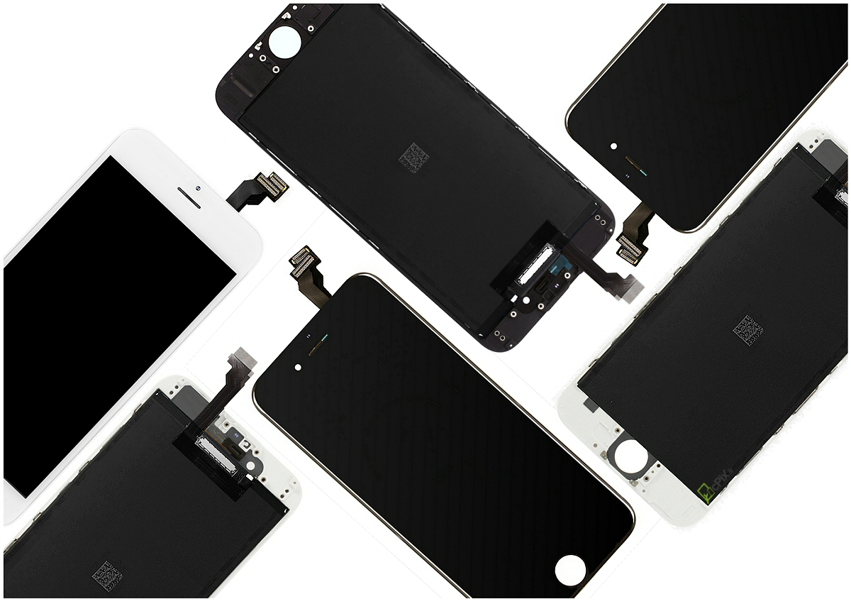 ecran iphone 6 blanc et noir