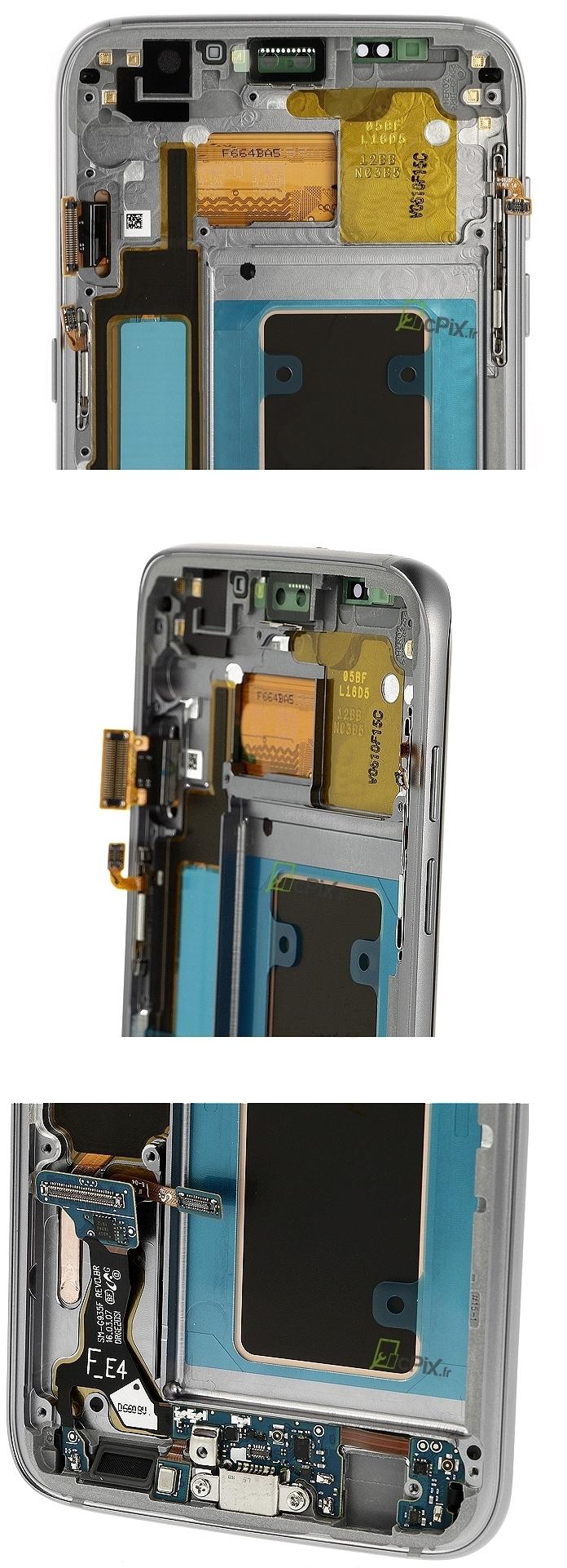 Galaxy S7 EDGE SM-G935F : Écran complet Argent