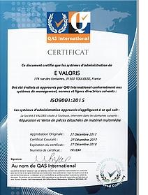 Certifié iSo 9001 Qualité cPix avis