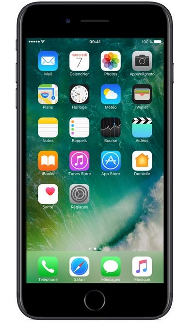 iPhone 7 Plus : Vitre écran LCD assemblés Noir