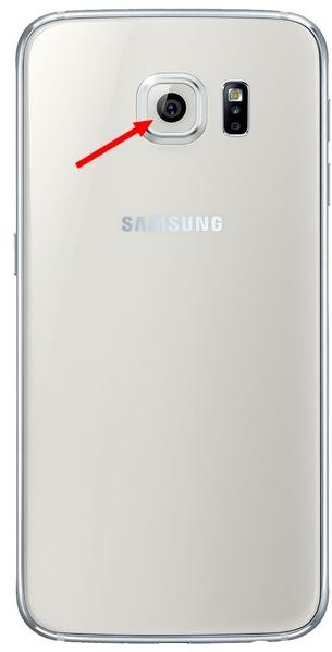 Galaxy S6 et S6 Edge : Cache lentille appareil photo arrière Blanc