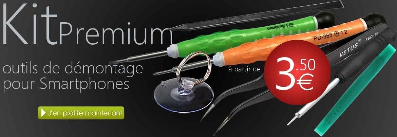 Kit d'outils Premium pour la réparation d' écrans iPhone 5, 5S, 5C, 6, 6S, 7, Plus, Samsung Galaxy, smartphones et tablettes, Fournisseur cPix.fr
