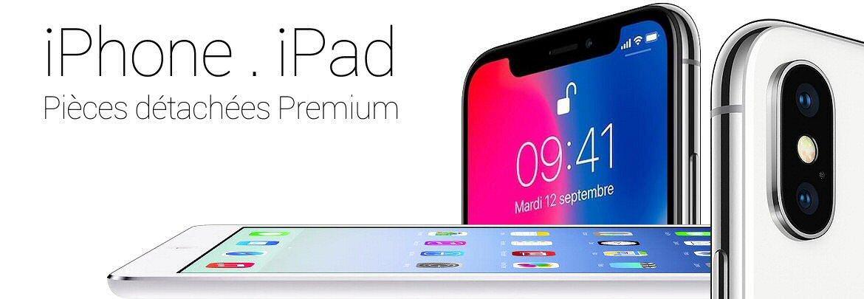 Fournisseur de vitres, écrans, batteries, pièces détachées iPhone iPhone 7Plus, iPhone 7, iPhone 6S, 6, SE, ... pour professionnels de la réparation